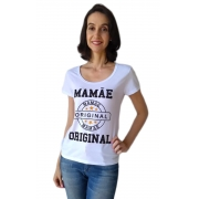 Camiseta Adulta Feminina Estampa Mamãe