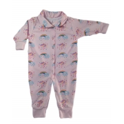 Macacão De Bebê Com Botões Estampa Chuva de Benção