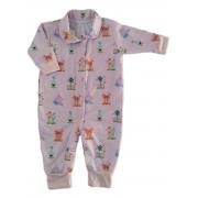 Macacão De Bebê Com Botões Estampa Jardim Encantado