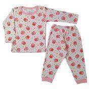 Pijama infantil manga longa de algodão