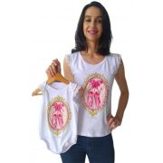 Regata adulta feminina e body de bebê sapatilhas Tal mãe tal filha