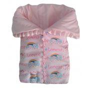 Saco de dormir para bebê chuva de benção personalizado com ziper