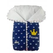 Saco de Dormir Porta Bebê com Ziper Coroa Príncipe