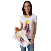 Tshirt Adulta E Body De Bebê Santa Nossa Senhora Aparecida Tal Mãe Tal Filha