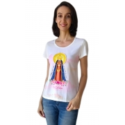 Tshirt Adulta Feminina Santa Nossa Senhora Aparecida