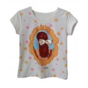 Tshirt Infantil Feminina Estampa Menina Laço