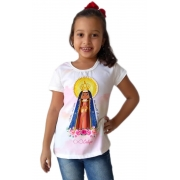 Tshirt Infantil Feminina Nossa Senhora Aparecida
