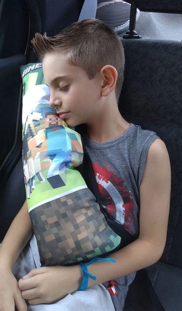 Almofada Infantil para Cinto de Segurança do Carro Estampada