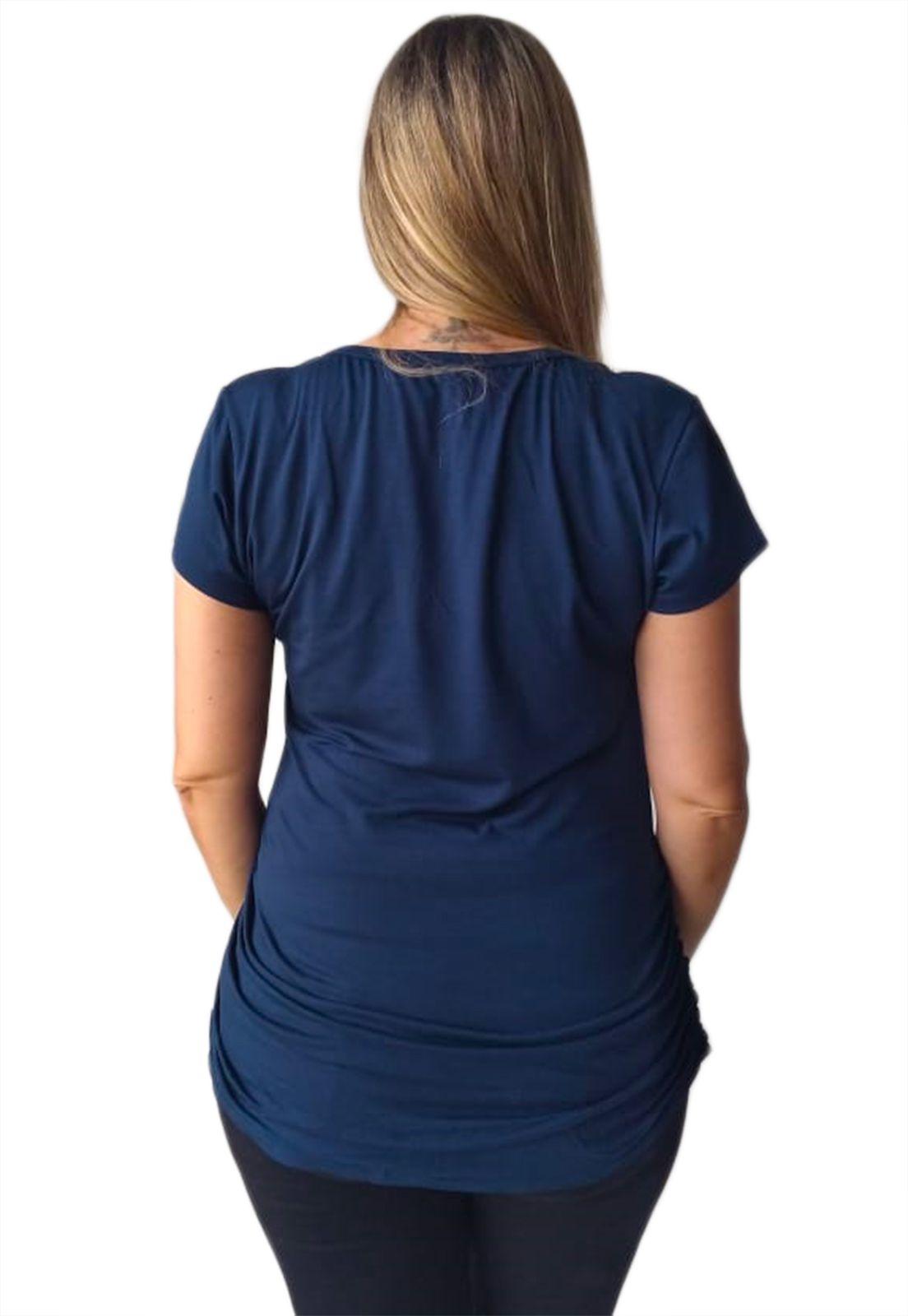 Blusa gestante com detalhe lateral roupa de grávida