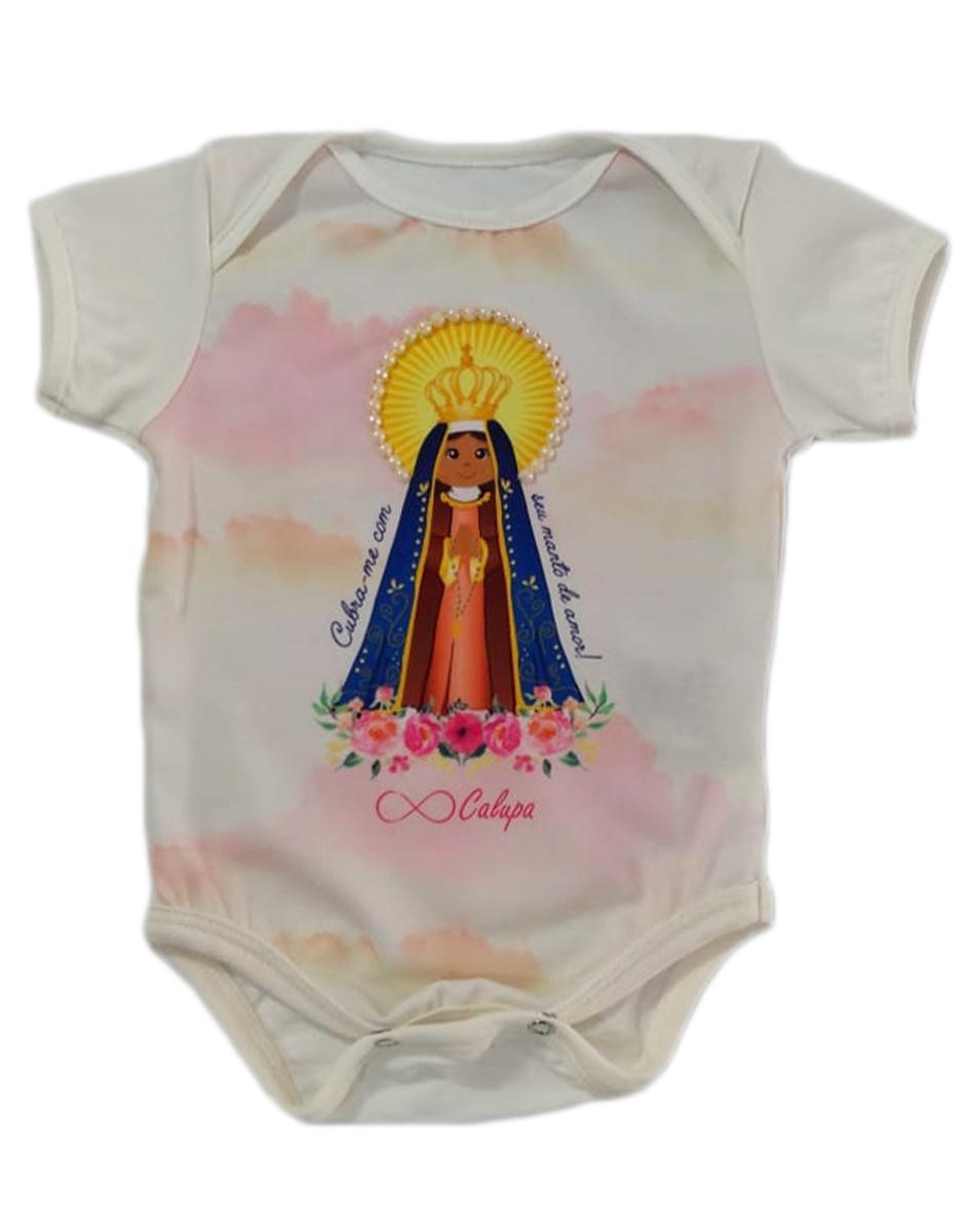 Body Bebê Estampa Nossa Senhora Aparecida