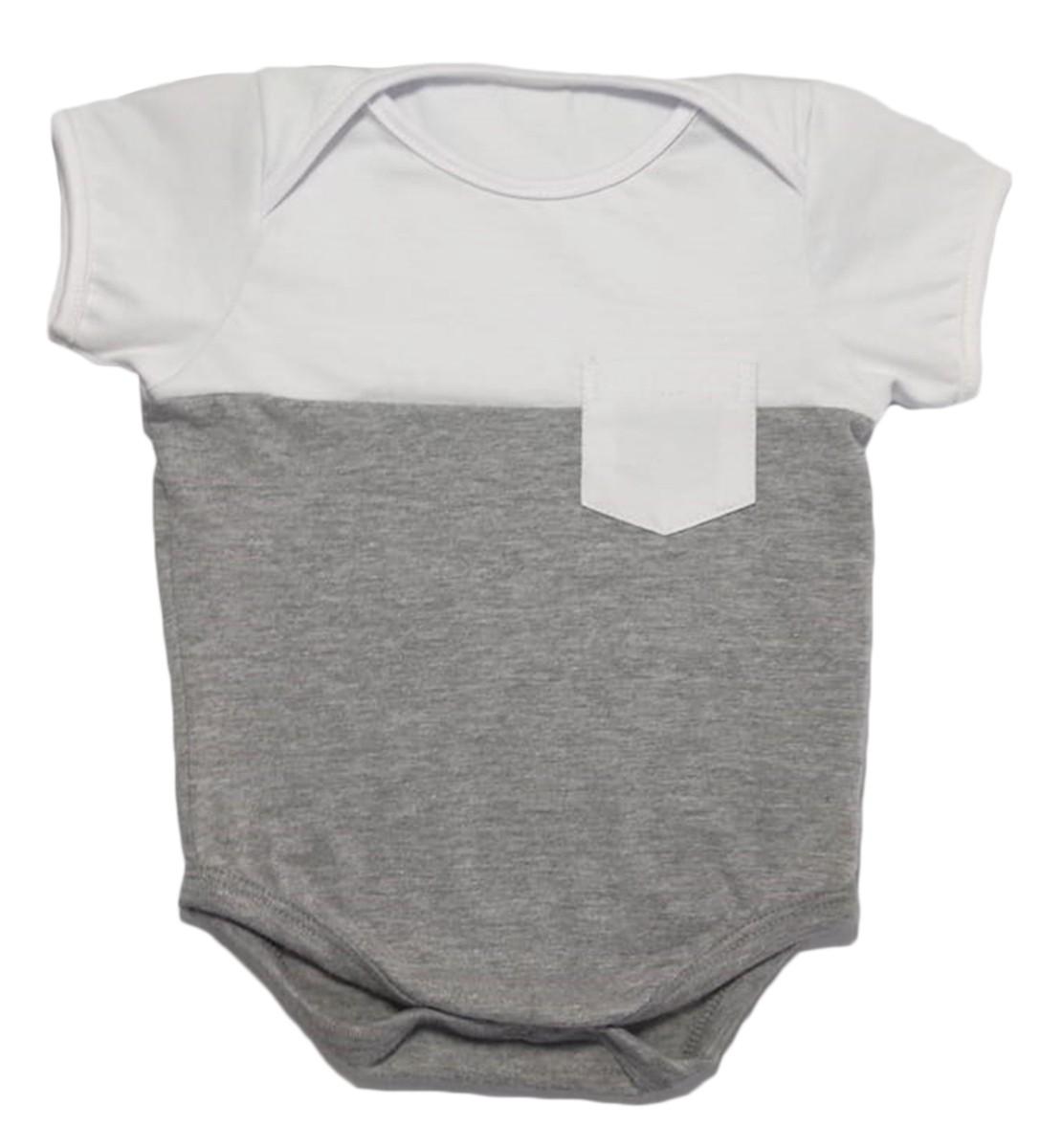 Body de Bebê Manga Curta com Bolso