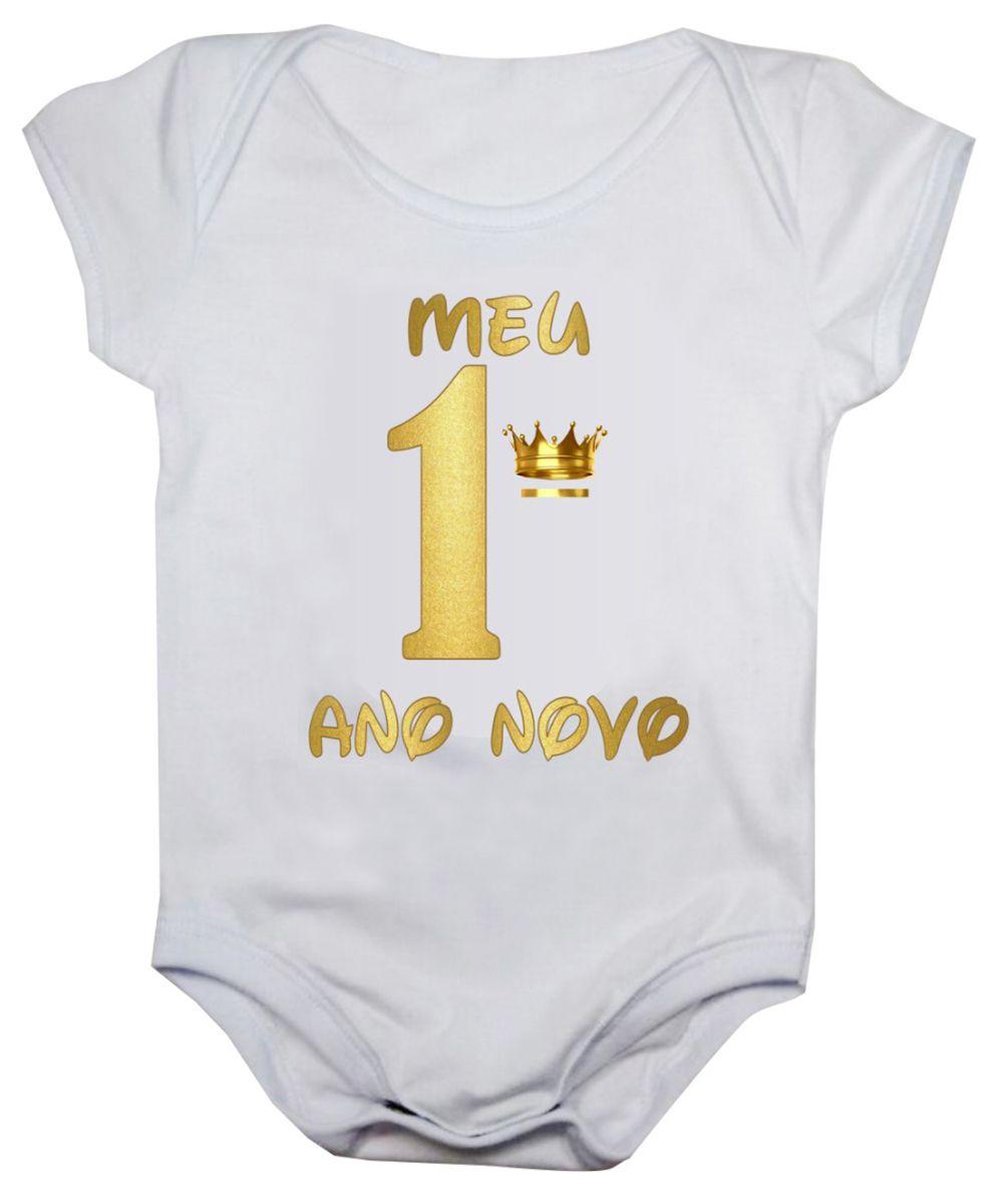 Body de bebê meu primeiro ano novo bodie