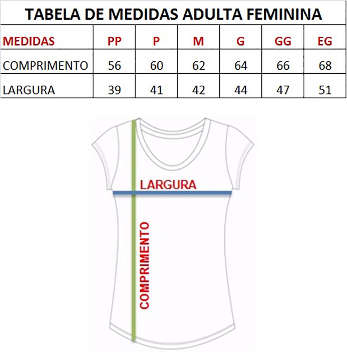 Camiseta Adulta Feminina Estampa Yoga