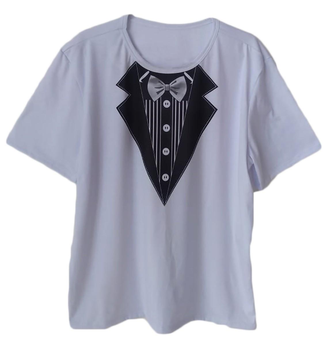 Camiseta adulta masculina chá bar noivo estampa gravata