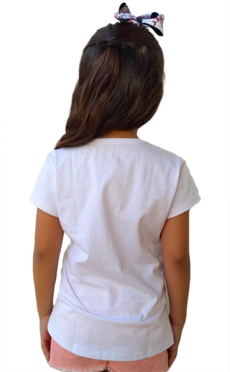 Camiseta infantil feminina santa Nossa Senhora Aparecida