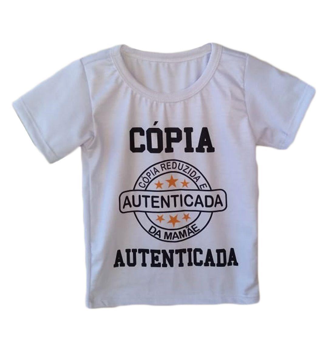 Camiseta infantil masculina cópia da mamãe