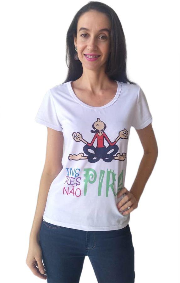 Camiseta t-shirt adulta feminina yoga