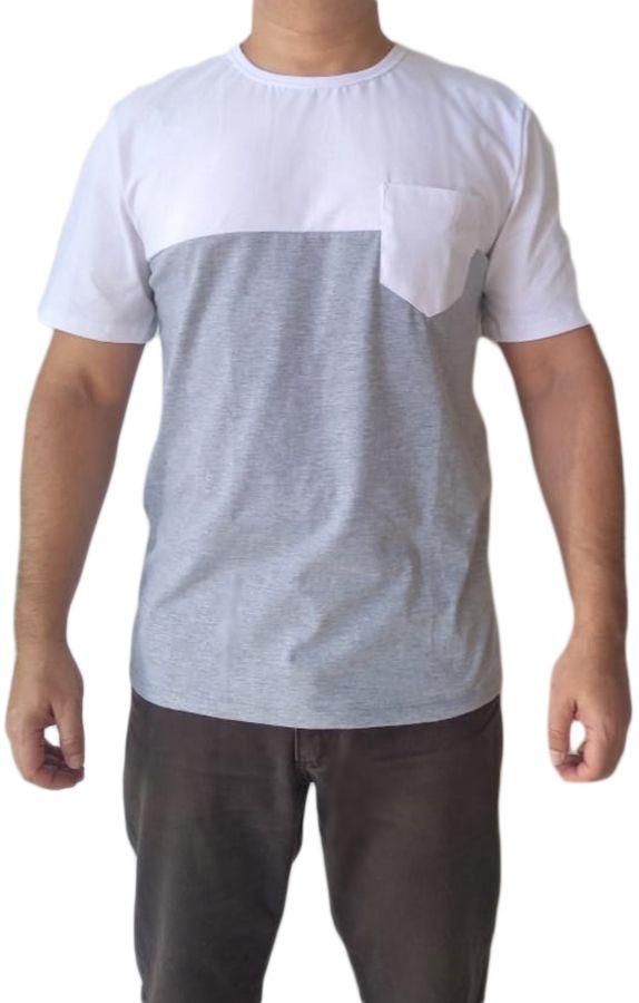Camiseta t-shirt adulta masculina com bolso
