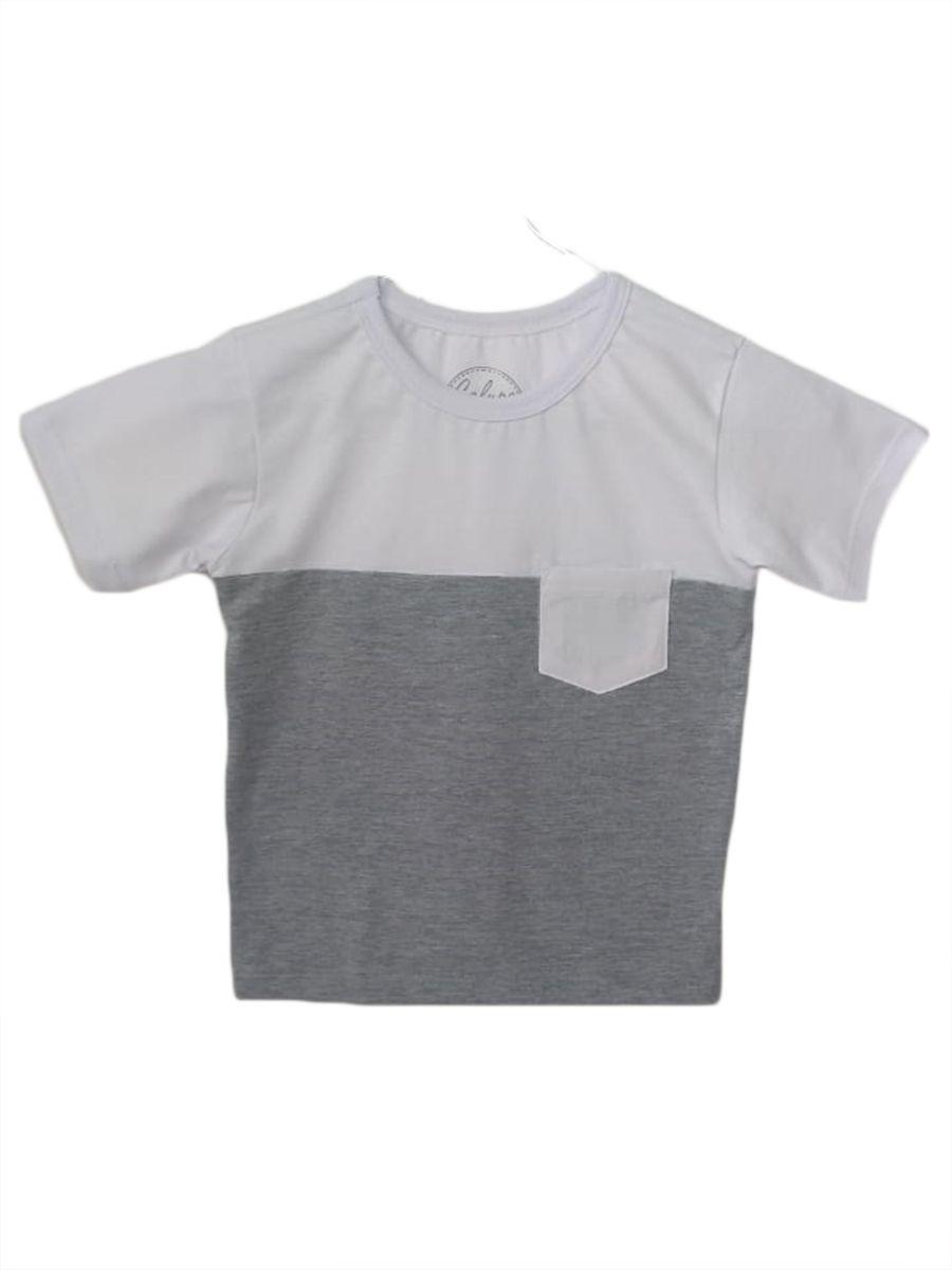 Camiseta t-shirt infantil masculina com bolso