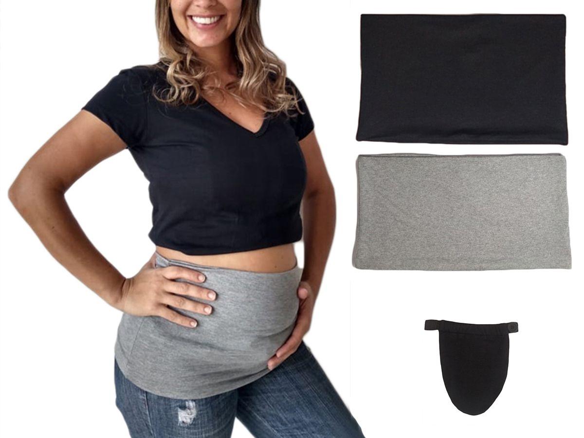 Extensor prolongador de calça para gestante com 2 faixas