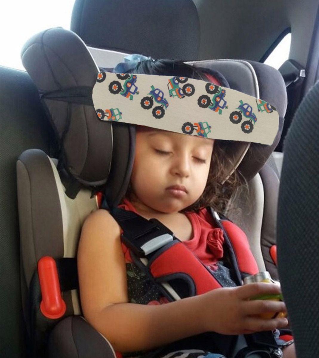 Faixa soninho apoio de cabeça para o bebê usar na cadeirinha do carro