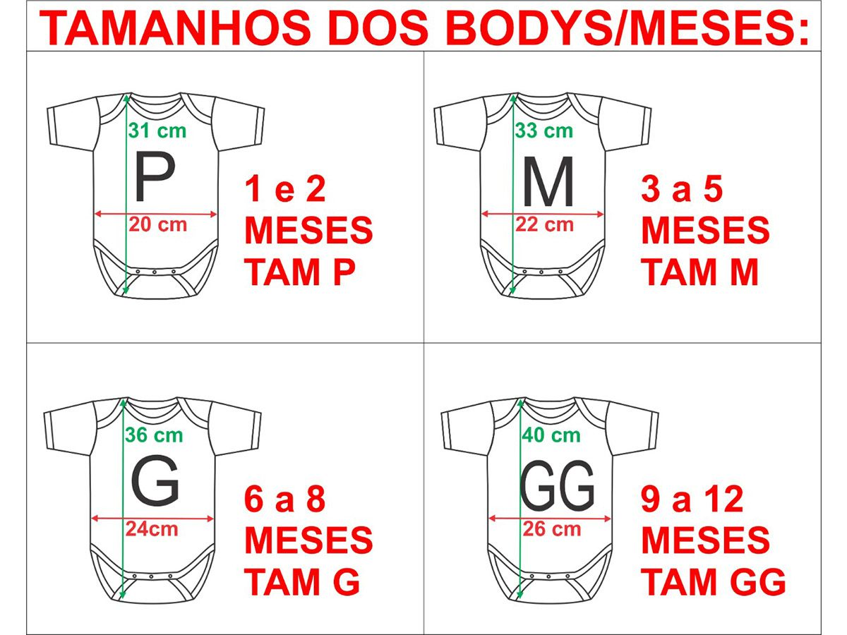 Kit body bebê mesversario manga curta estampa kombi 12 bodies 1 a 12 meses