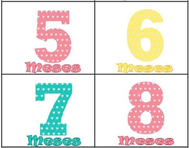 Kit body mesversario números coloridos 12 bodies