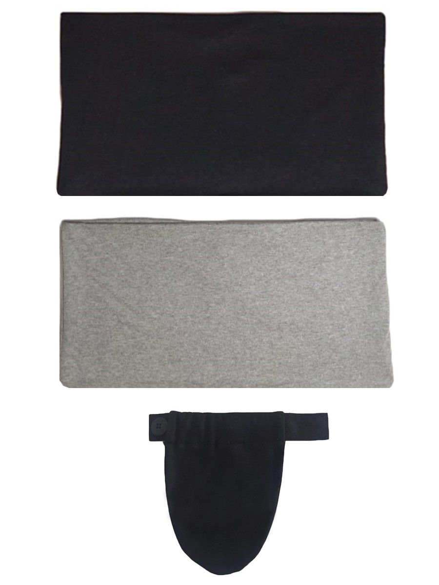 Kit com 2 faixas e 1 extensor de calça para gestante