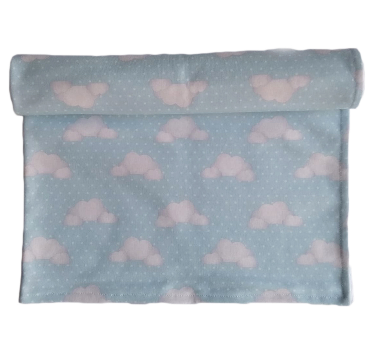 Manta Bebê Nuvens Dupla Face Cobertor Forrado