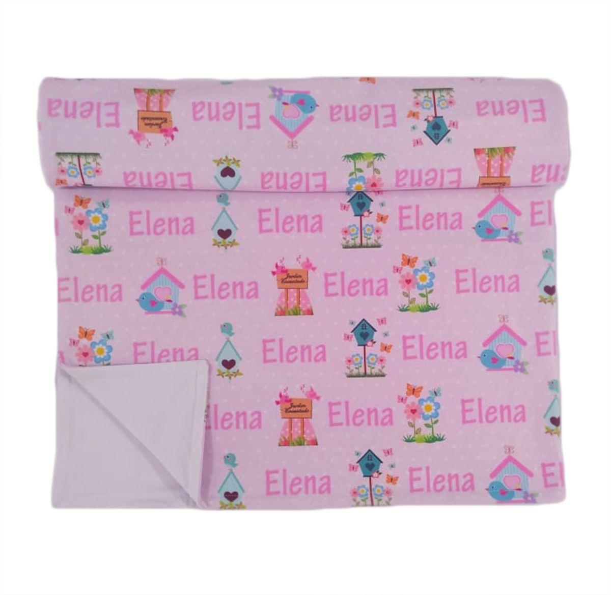 Manta para Bebê Personalizada Dupla Face Cobertor Forrado