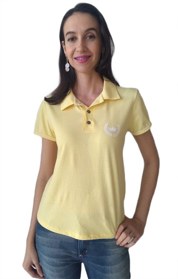Polo adulta feminina estampa coroa