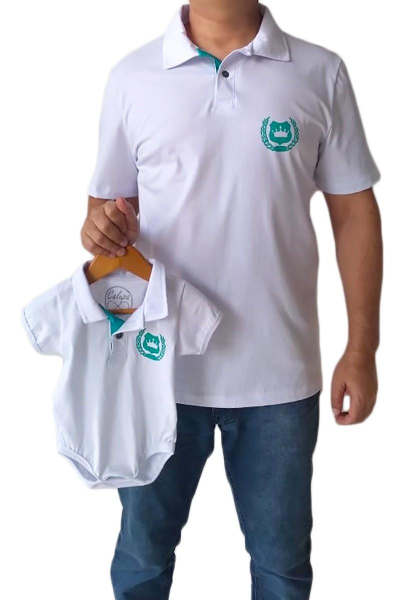 Polo adulta masculina e body de bebê polo Tal pai Tal filho