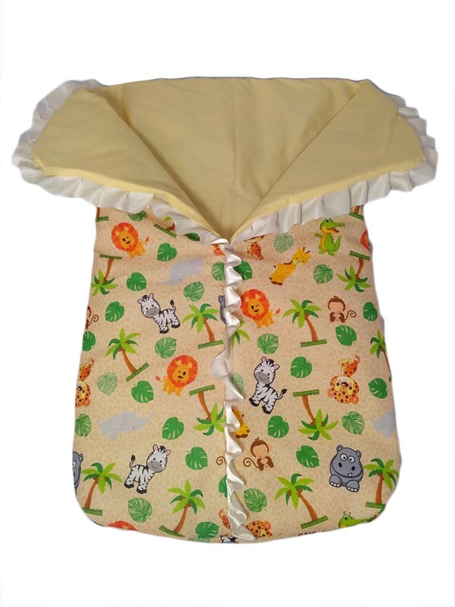 Saco de dormir para bebê com ziper estampa safari