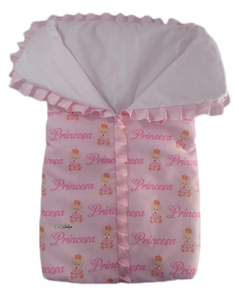 Saco de Dormir para Bebê com Ziper Estampa Ursinha Princesa