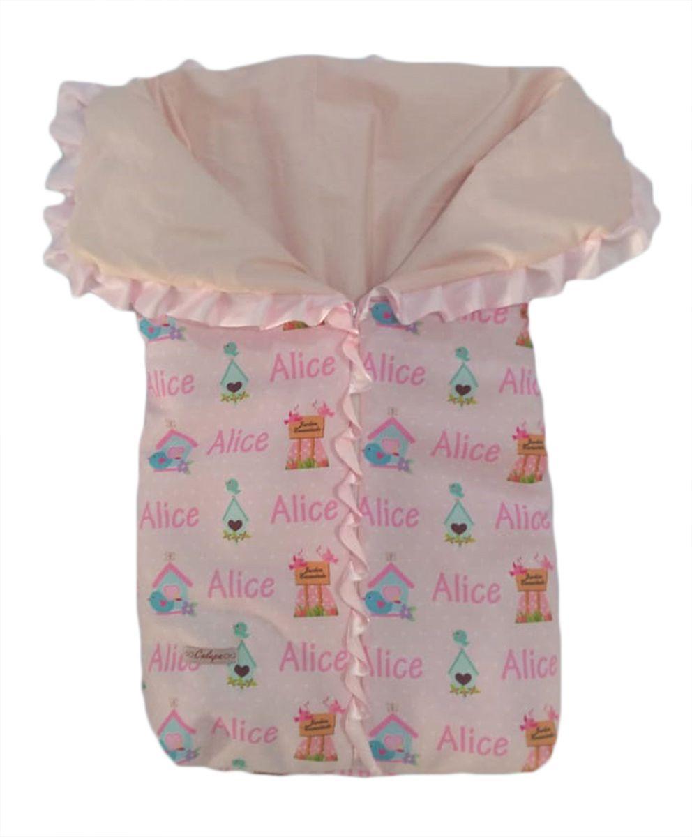 Saco de Dormir para Bebê Personalizado Porta Neném Com Zíper