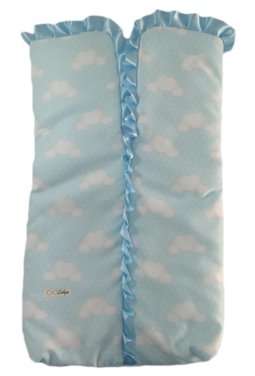 Saco de Dormir Porta Bebê com Ziper Estampa Nuvens