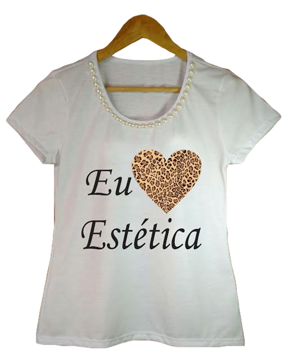 T-shirt adulta feminina bordada esteticista