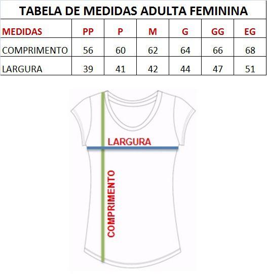 T-shirt adulta feminina bordada oncinha
