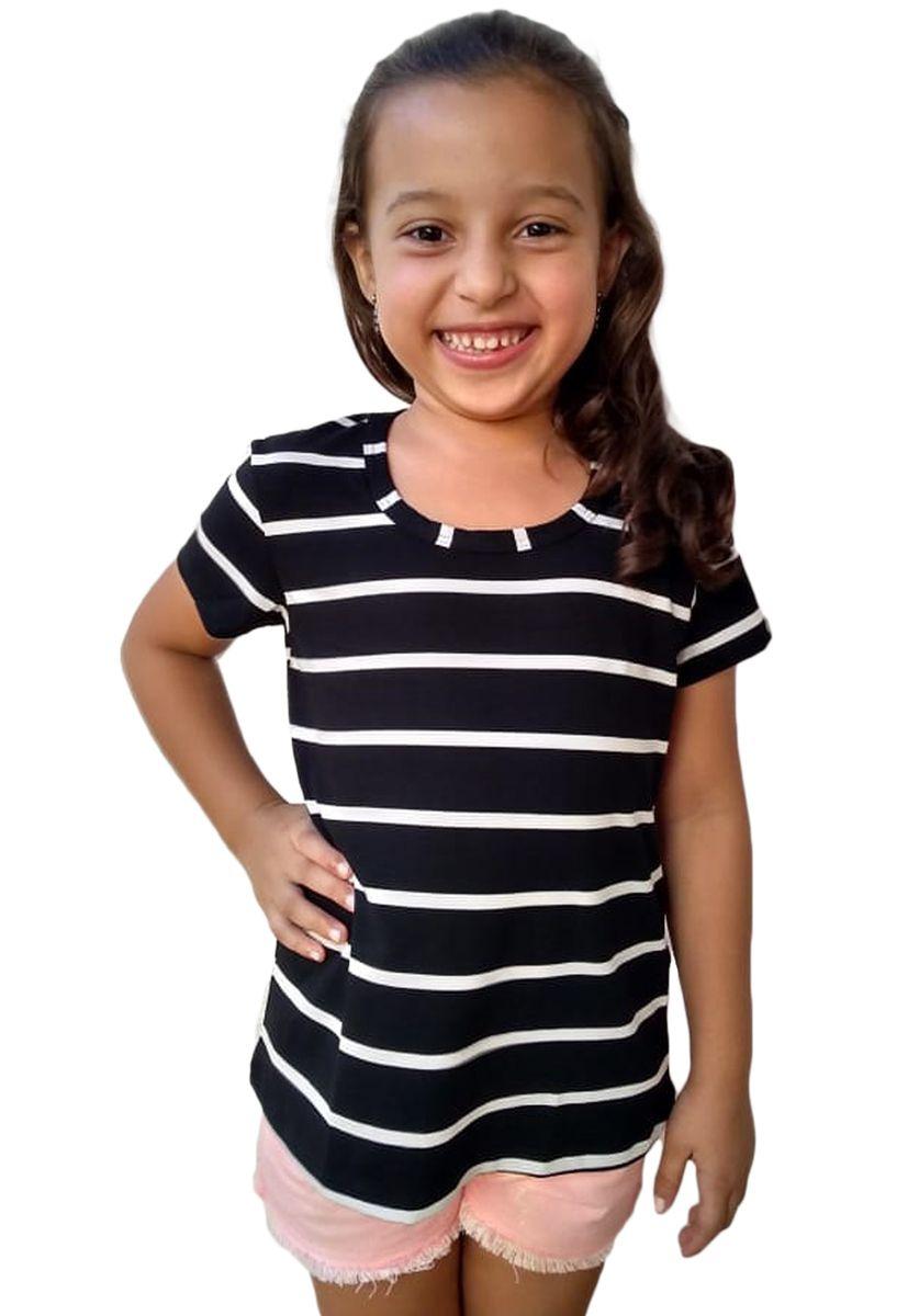 Blusa Infantil Feminina Listrada