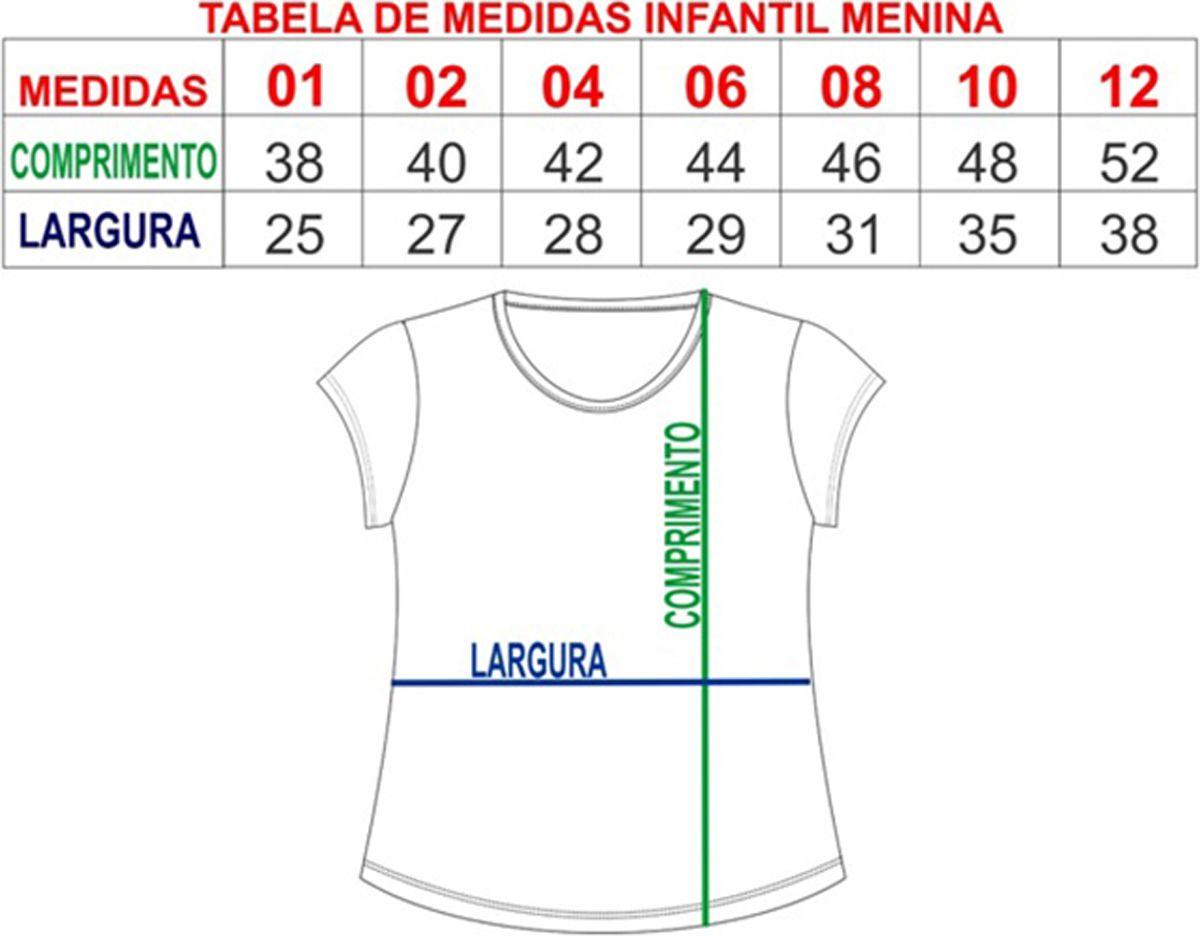 T-shirt blusa infantil feminina listrada menina