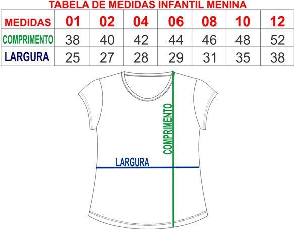 T-shirt camiseta infantil feminina guitarras