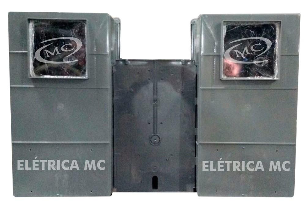 82889c4e0b3 Kit Completo Padrão Eletropaulo Para 2 Medidores Bifásicos POLICARBONATO  VISOR RUA - MC HIDRAULICA E ELETRICA ...