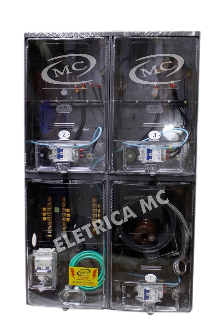 2f96690389a Kit Completo Padrão Eletropaulo Para 3 Medidores Bifásicos POLICARBONATO -  MC HIDRAULICA E ELETRICA ...