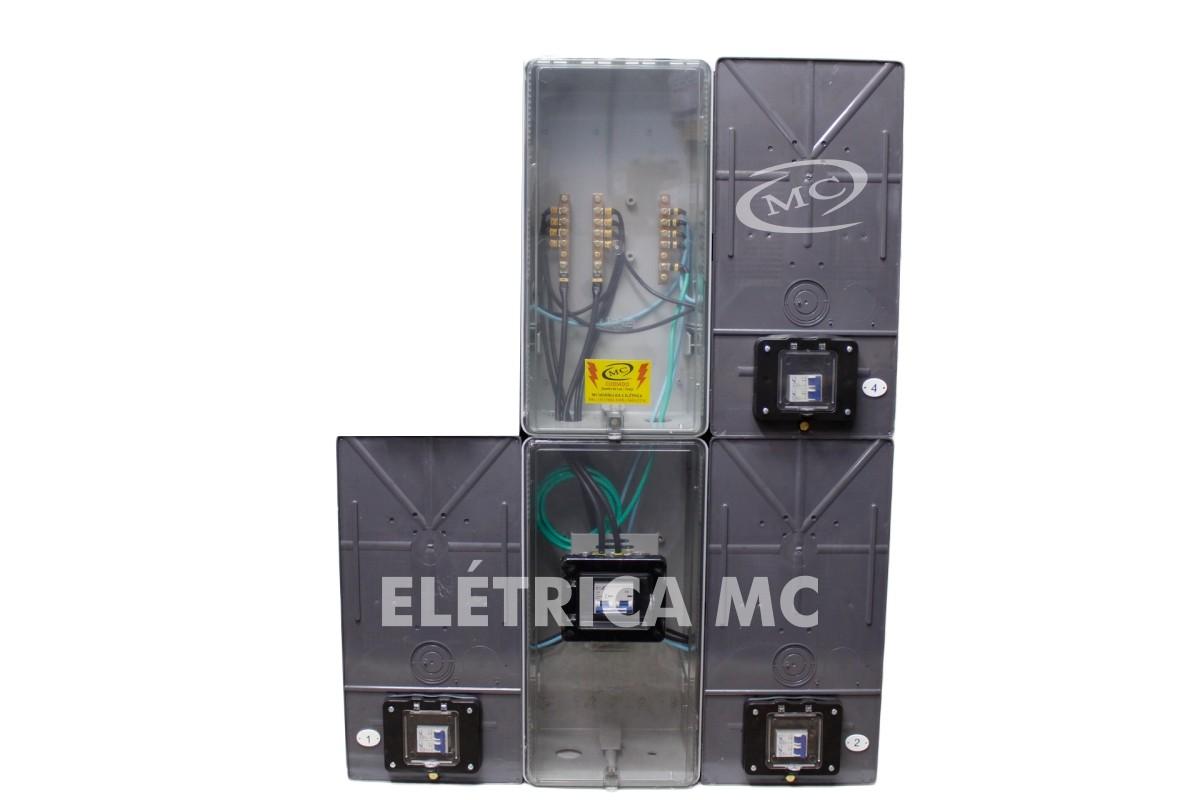 42c15feb91e Kit Completo Padrão Eletropaulo Para 3 Medidores Bifásicos POLICARBONATO - VISOR  RUA - MC HIDRAULICA E ...