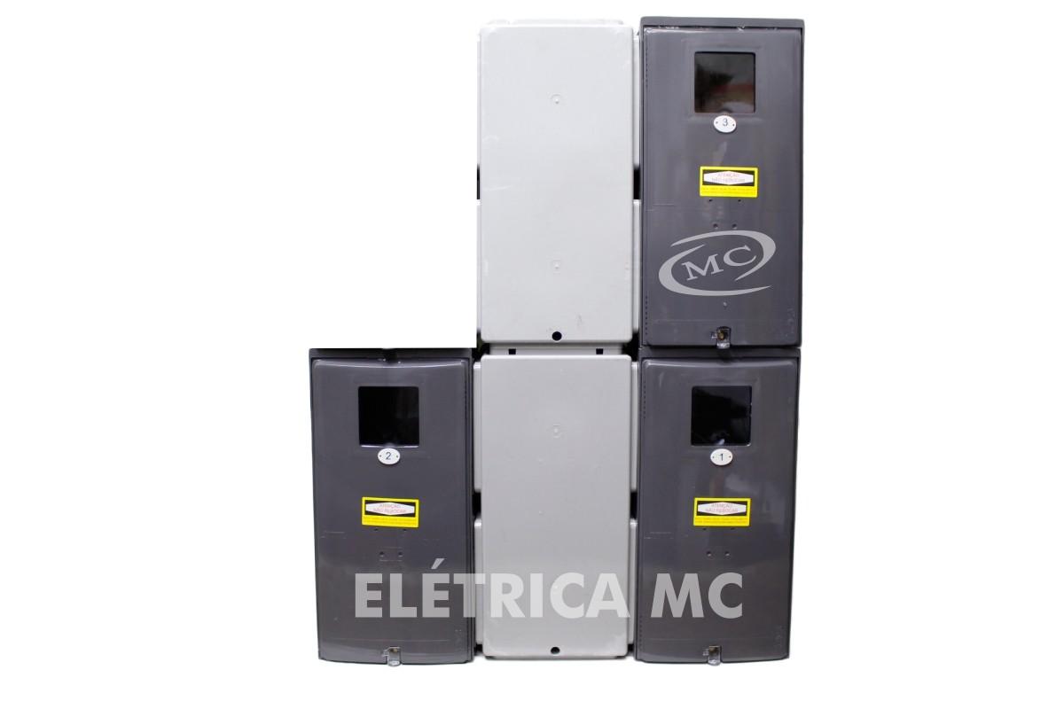 46ad9c0dc1a ... Kit Completo Padrão Eletropaulo Para 3 Medidores Bifásicos POLICARBONATO  - VISOR RUA - MC HIDRAULICA E