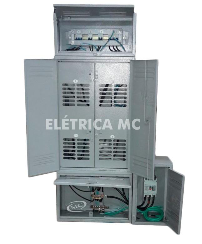 c7199ddc30e Kit Completo Padrão Eletropaulo Para 4 Medidores Bifásicos CHAPA - MC  HIDRAULICA E ELETRICA ...