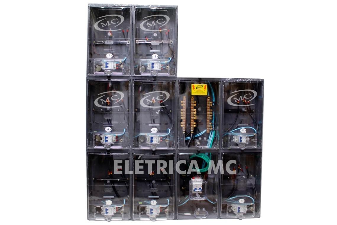 8b4cb15906c Kit Completo Padrão Eletropaulo Para 8 Medidores Bifásico (POLICARBONATO) - MC  HIDRAULICA E ELETRICA ...