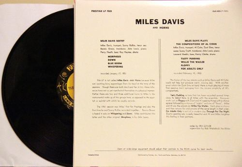 Lp Vinil Miles Davis And Horns