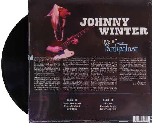 Lp Johnny Winter Live At Rockpalast
