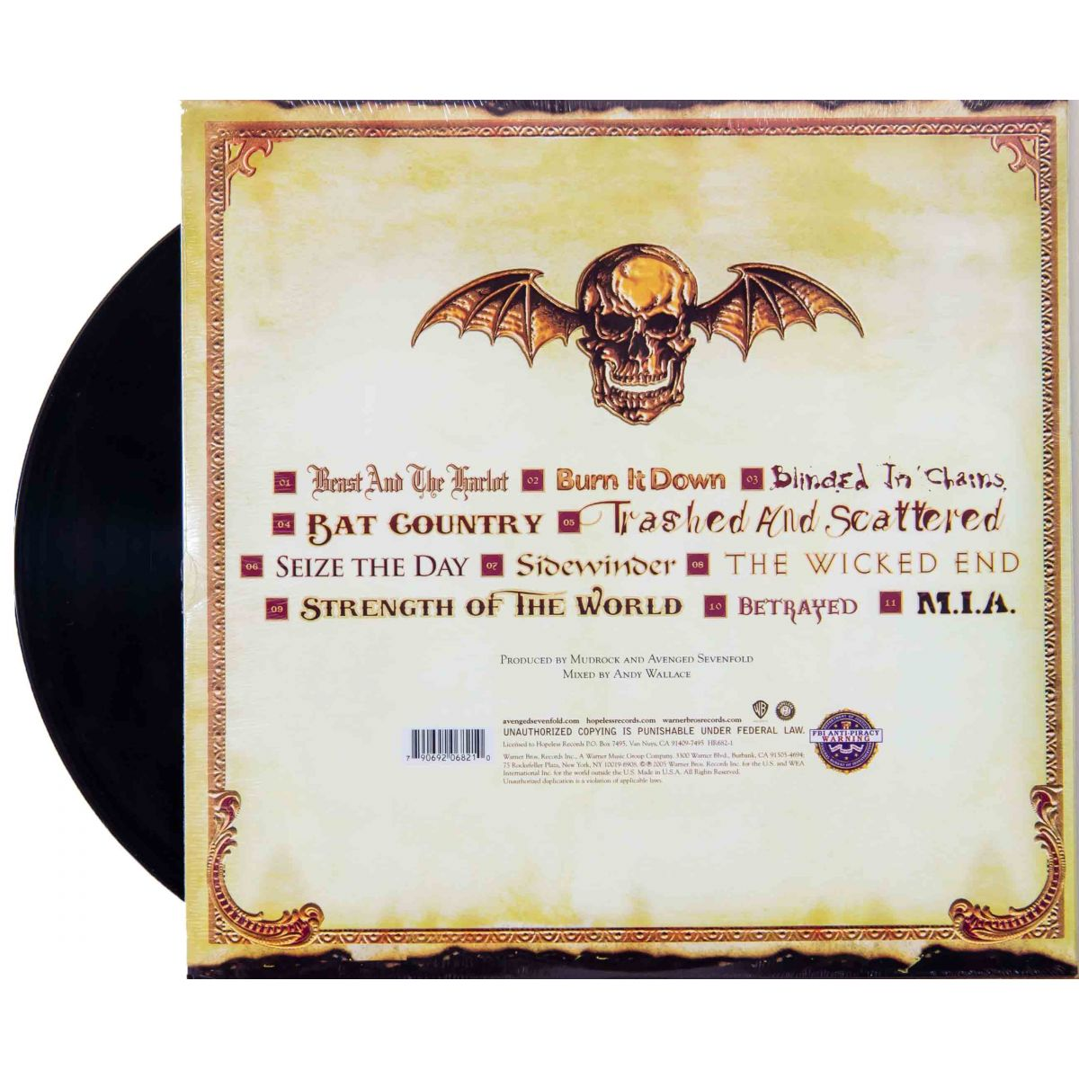 Lp Vinil Avenged Sevenfold City Of Evil